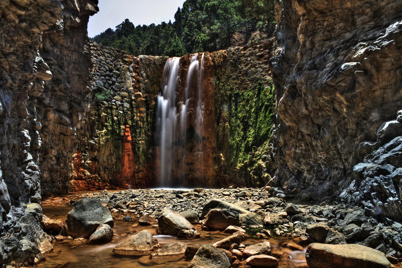 Wasserfall / Cascada de Colores, La Palma HDR