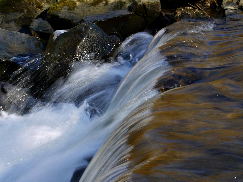 Wasserfall im Auenwald