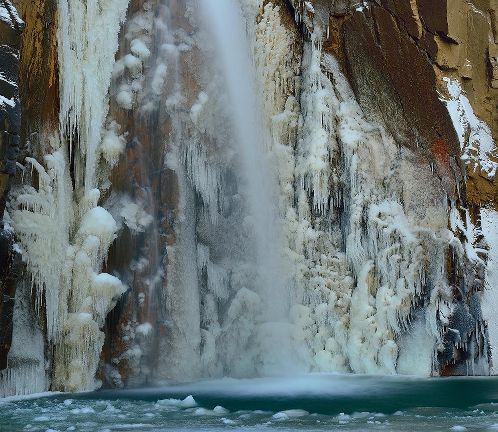 Wasserfall im De Geerdalen, Spitzbergen, Oktober 2013