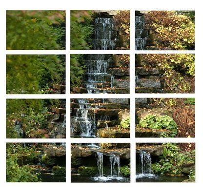 WasserFall im Herbst (12 Einzelbilder)