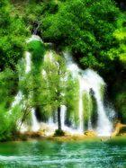 Wasserfall im Krkanationalpark Kroatien