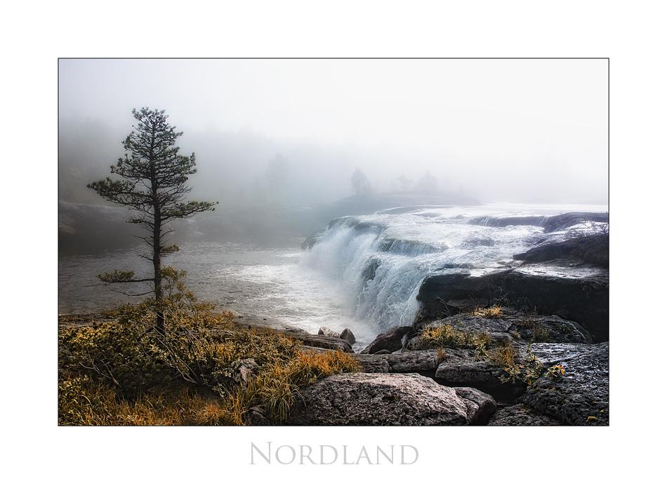 Wasserfall im Nebel