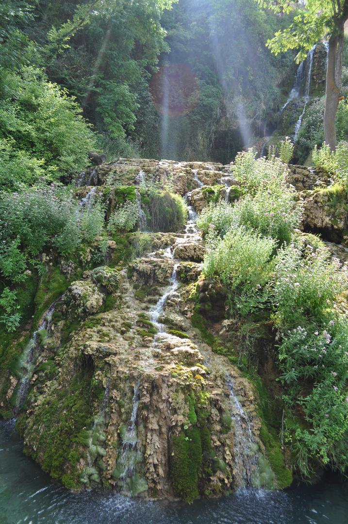 Wasserfall im Spanischen Orbaneja de Castillo