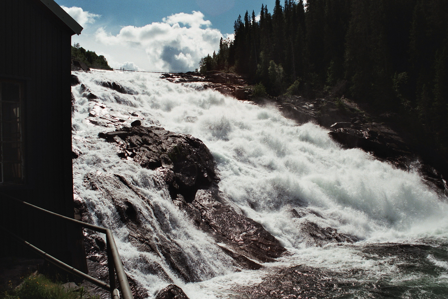 Wasserfall in Handöl Schweden