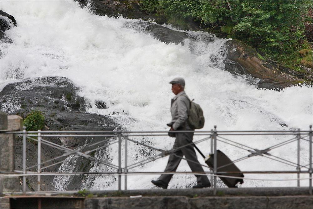 Wasserfall in Hellesylt - Norwegen