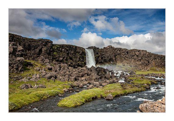 Wasserfall in Pingvellir