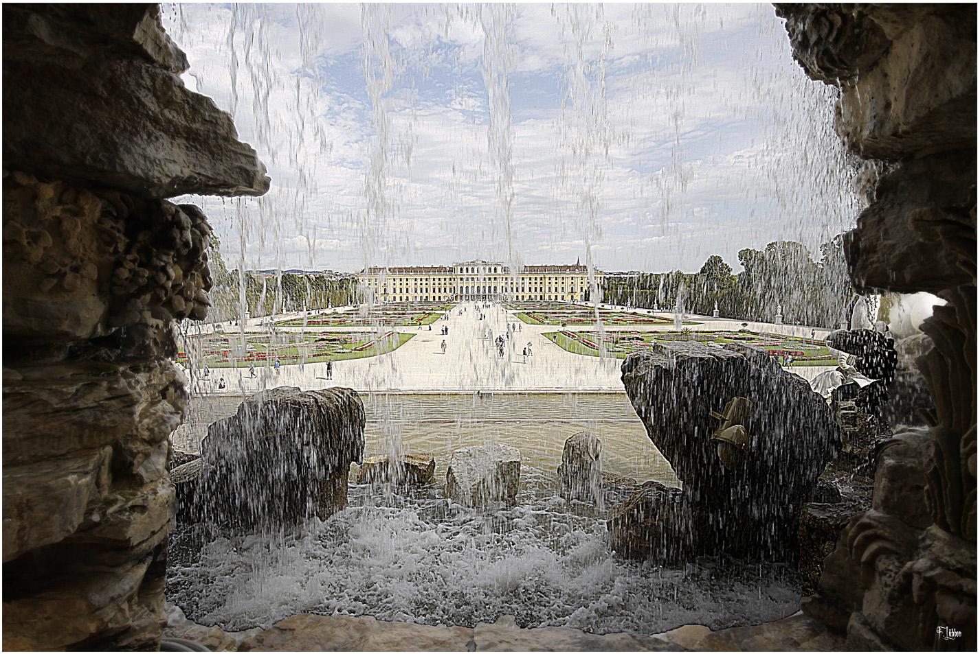 Wasserfall in Schönbrunn