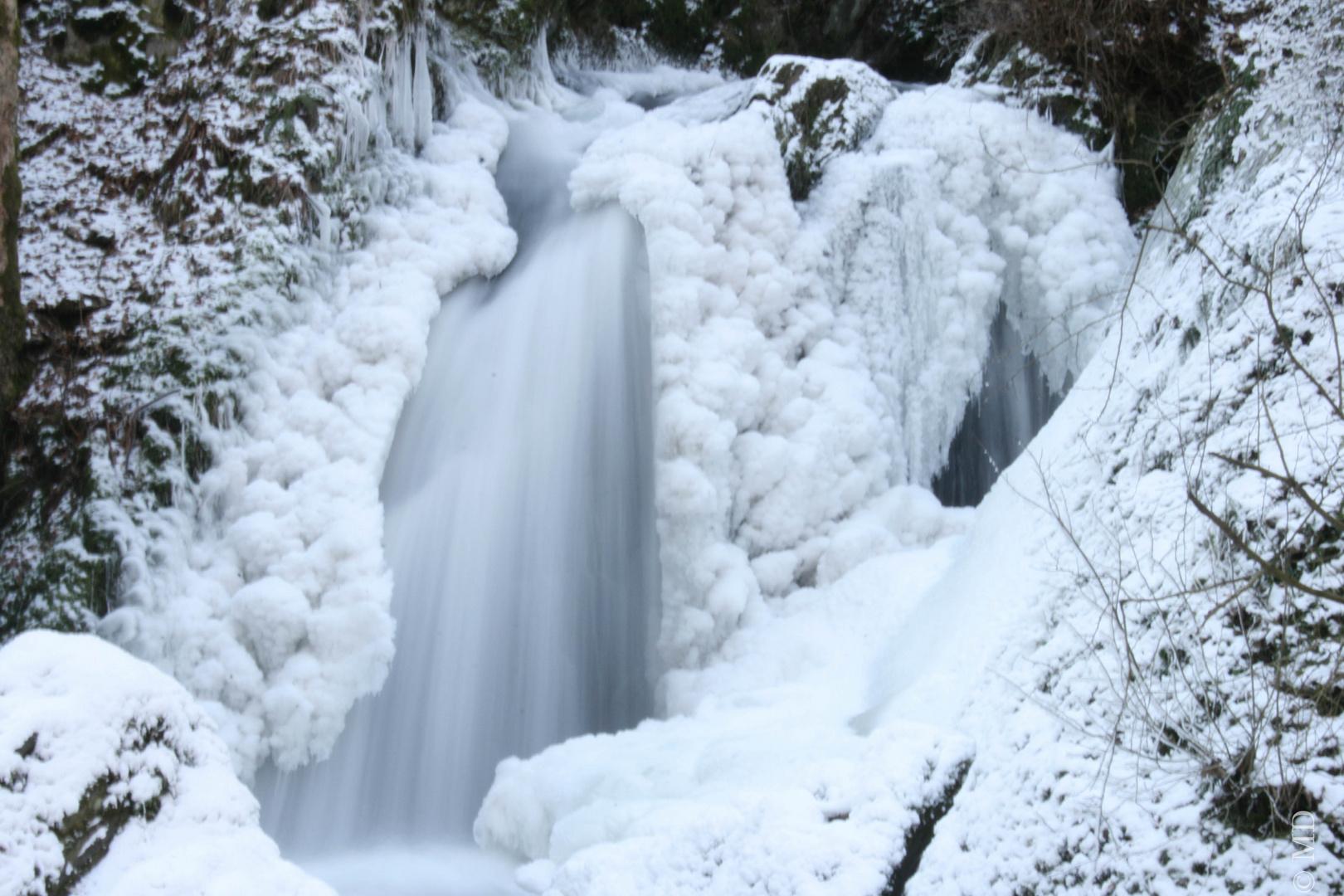 Wasserfall Kloster Martental bei Eis
