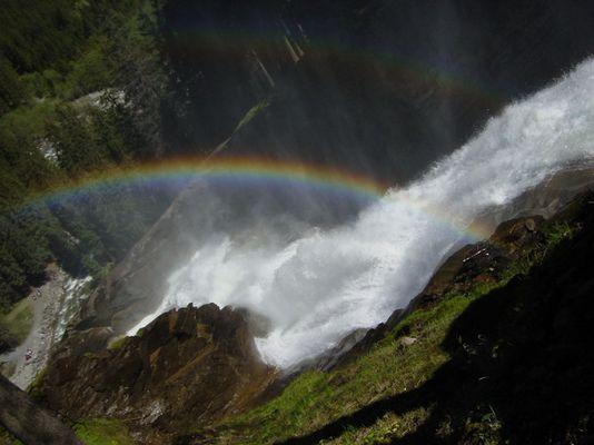 Wasserfall mit Regenbogen