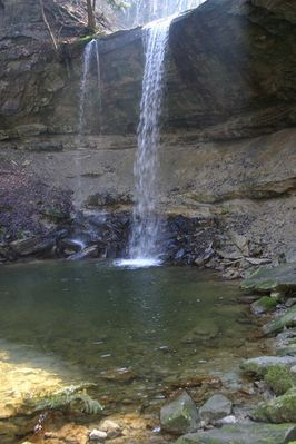 Wasserfall oder Lichtfall das ist hier die Frage