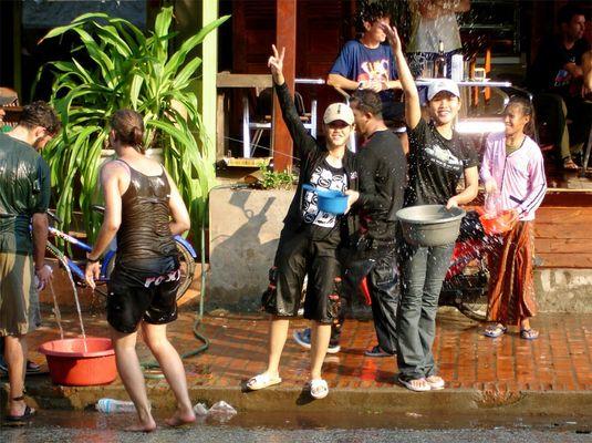 Wasserfest in Luang Prabang