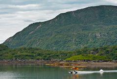 Wasserflugzeug in Alaska