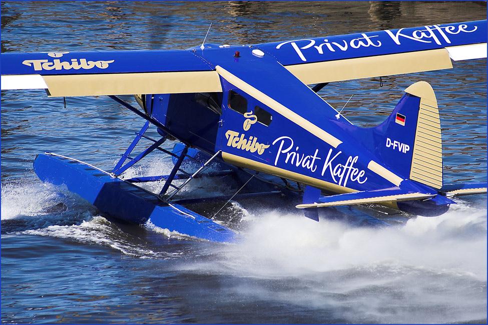 Wasserflugzeug in Hamburg