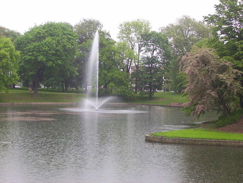 Wassergraben um den Dresdner Zwinger