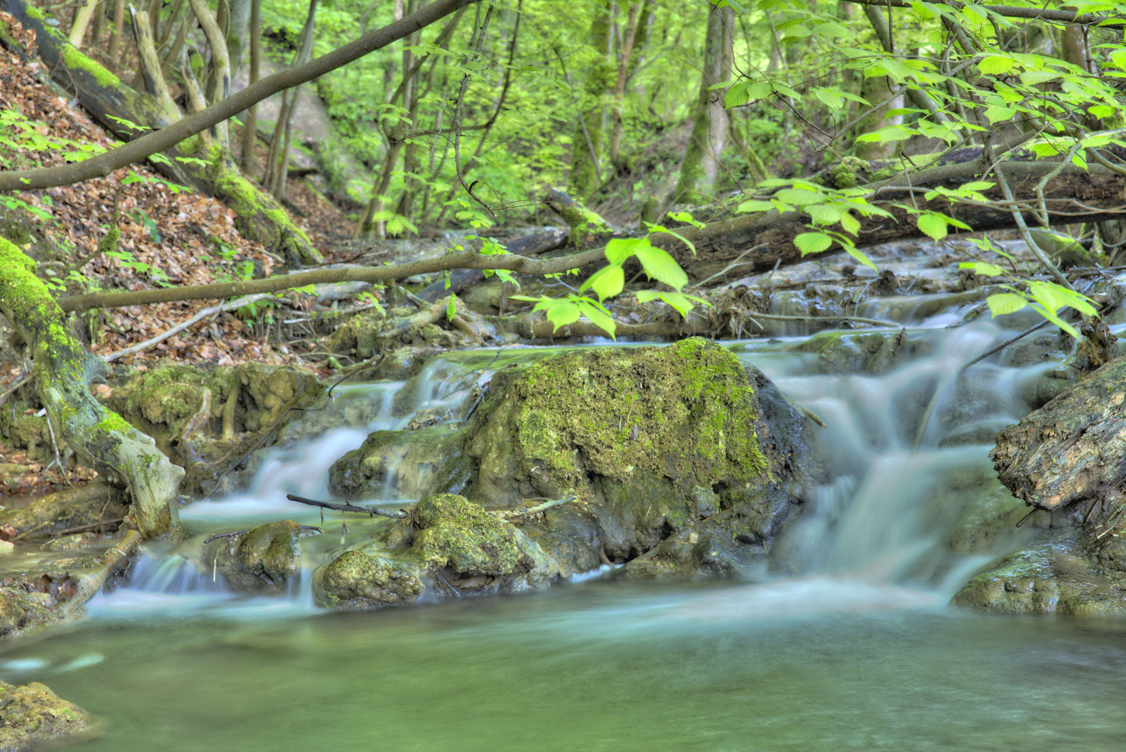 Wasserkaskaden am Wasserfall Bad Urach I