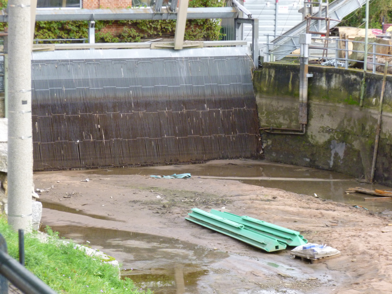Wasserkraftwerk während Umbau/Renovierung