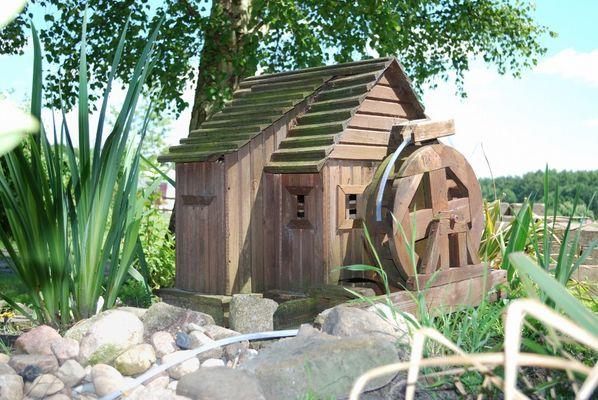 Wassermühle auf Campingplatz