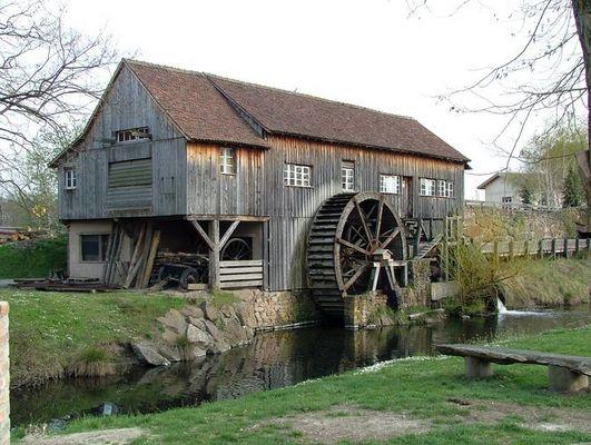 Wassermühle in Frankreich