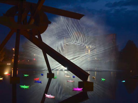 Wassernebel auf dem Piano-See