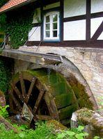 Wasserrad der Mühle Kloster Lamspringe