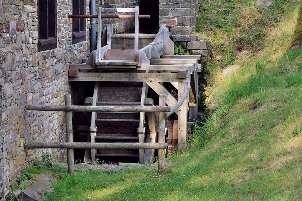 Wasserrad der Wendener Hütte.