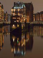 Wasserschloss in der Speicherstadt in Hamburg