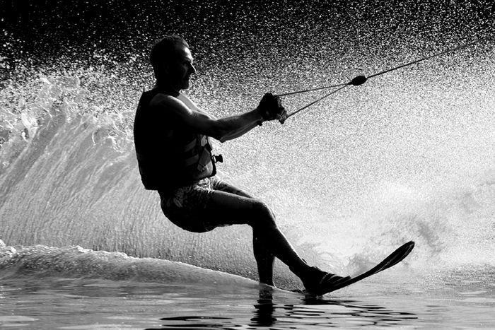Wasserskifahrer