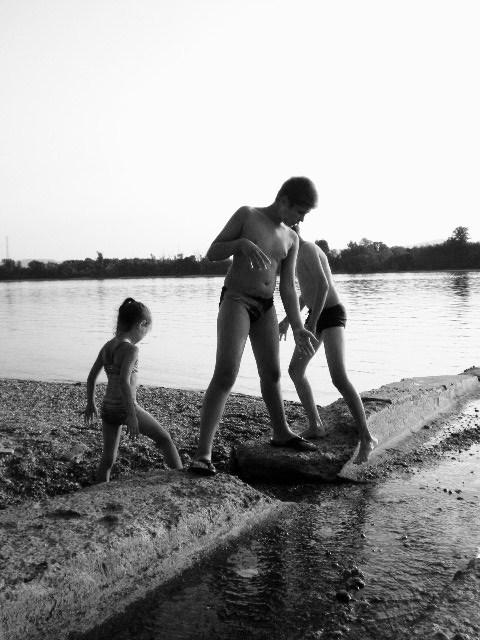 Wasserspiel an der Donau