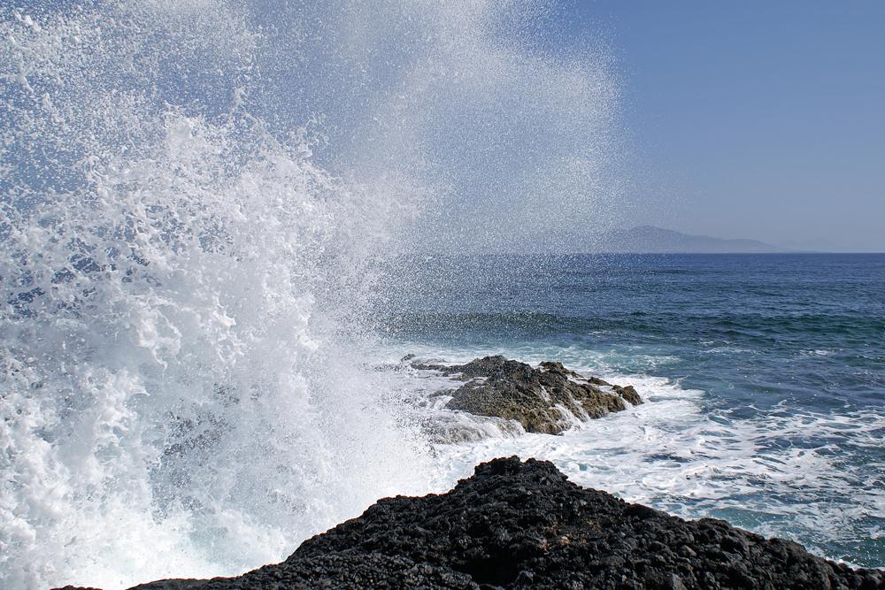 'Wasserspiel' an der Nordküste Fuerteventura