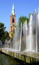 Wasserspiel im Zentrum der Stadt.