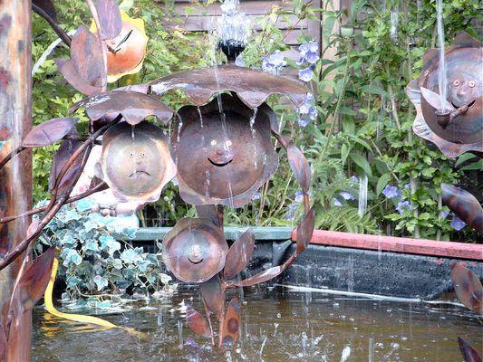 Wasserspiele aus Kupfer