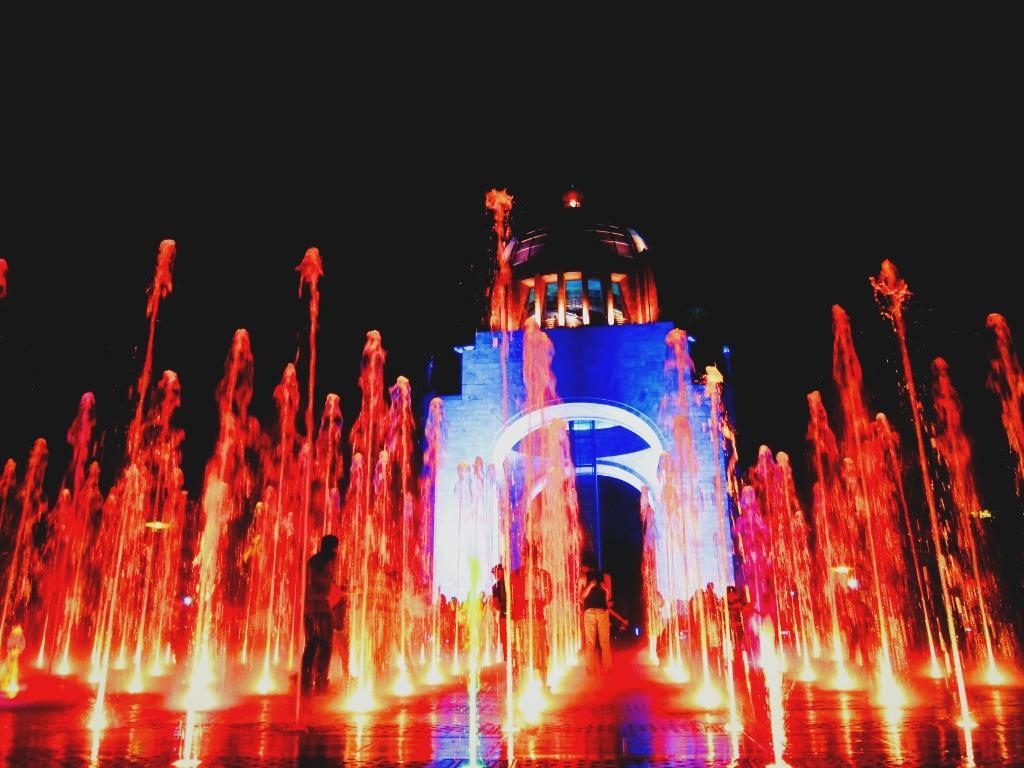 Wasserspiele, illumiert, Mexico City