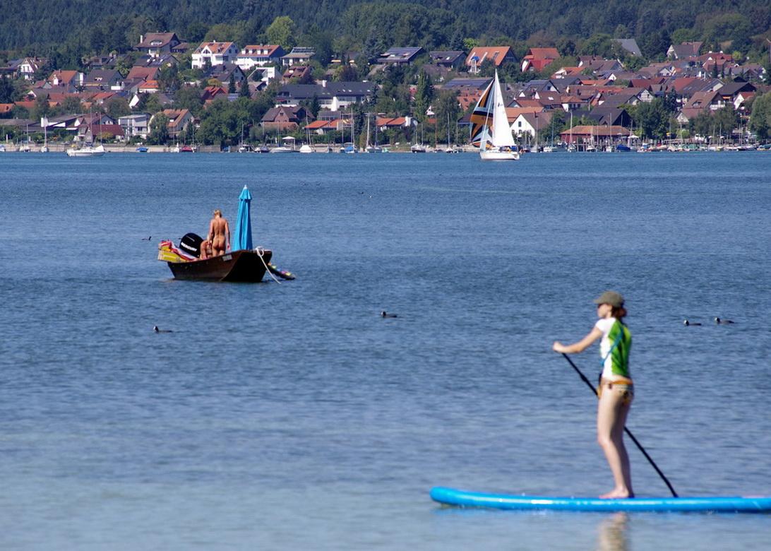 Wassersportler auf dem Bodensee