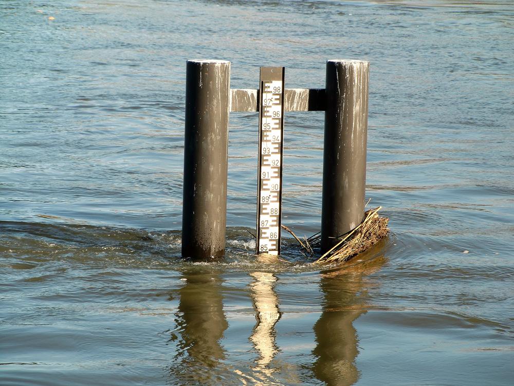 Wasserstand deutlich gefallen