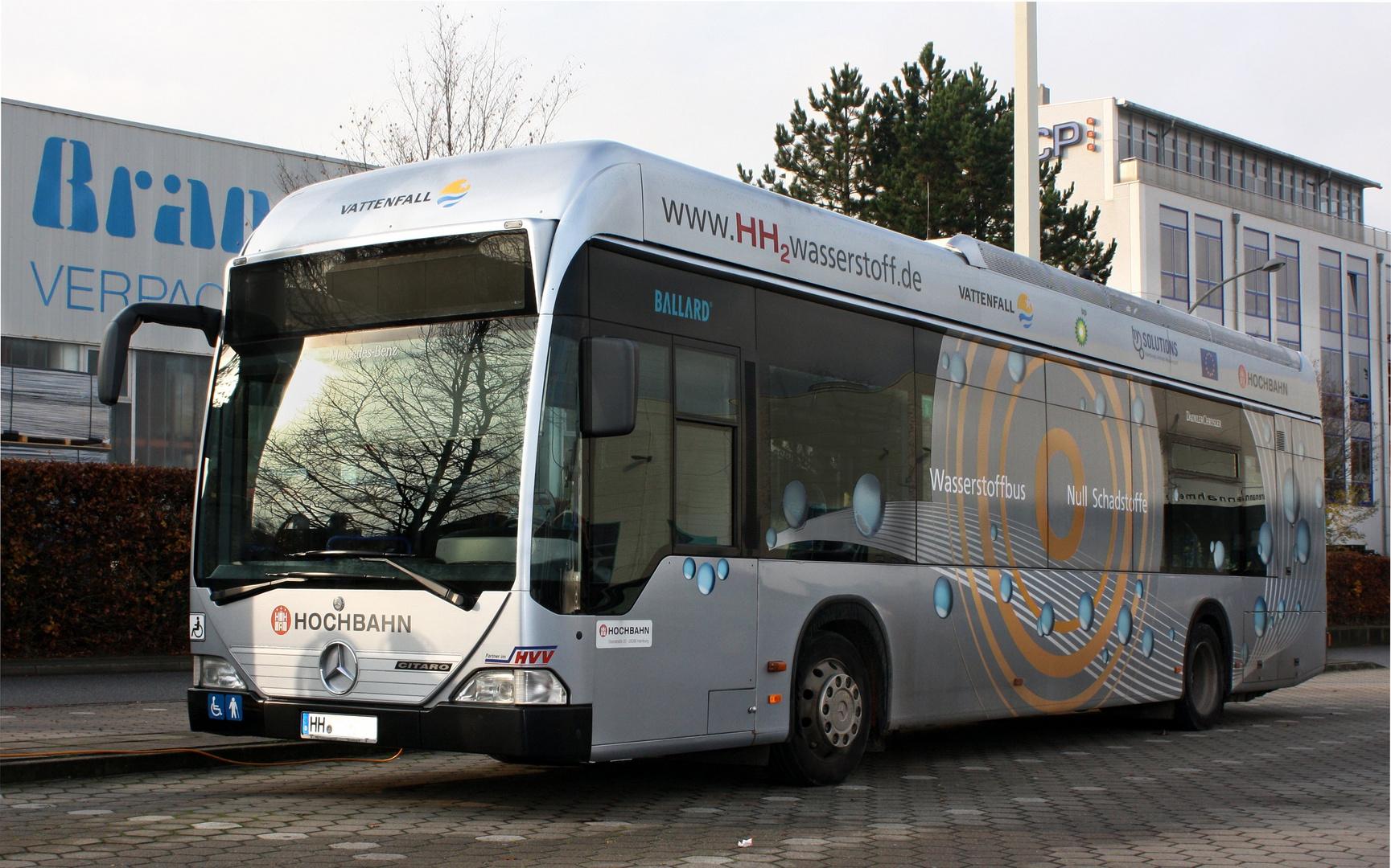 Wasserstoffbusse in Hamburg