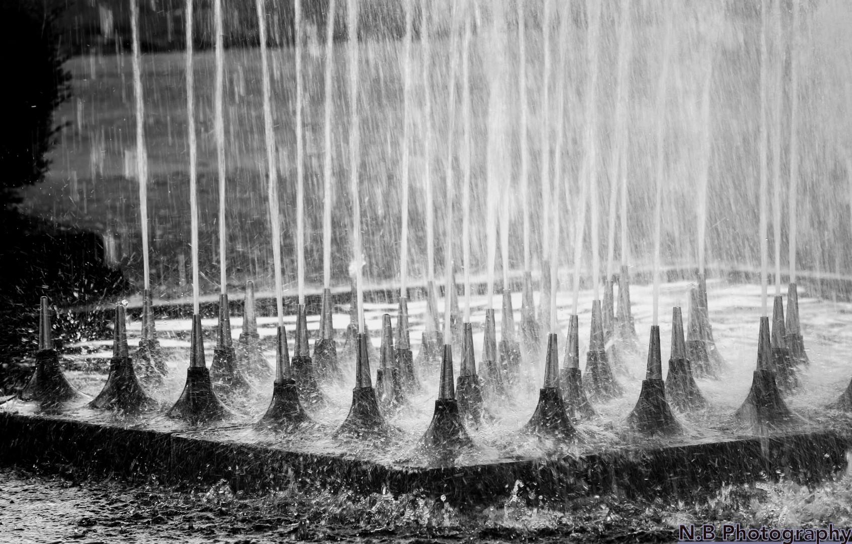 Wasserstrahlen im MüGa Park