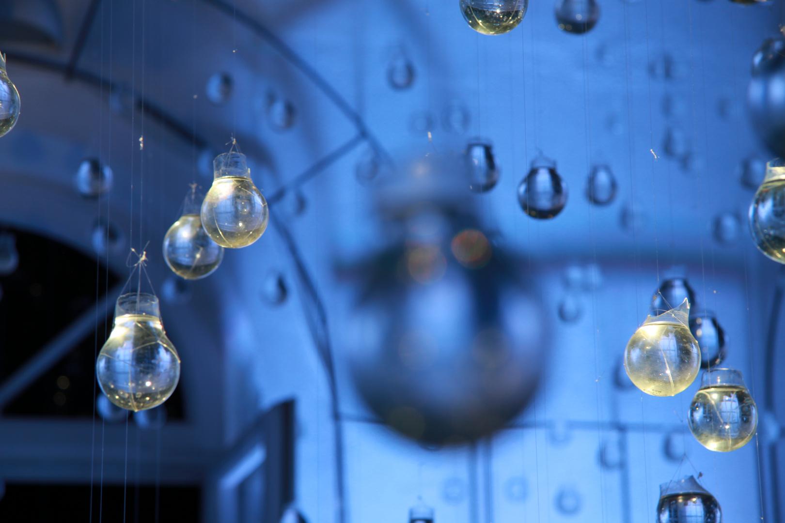 Wassertropfen aus Glas