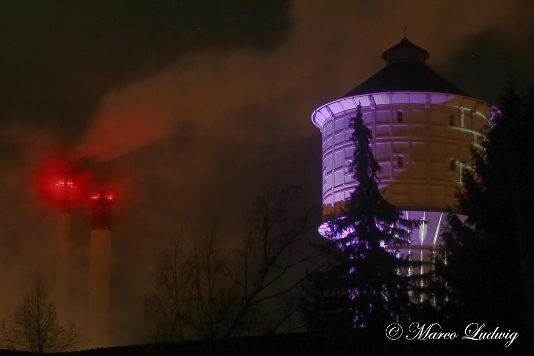 Wasserturm und Stadtwerke Neumünster