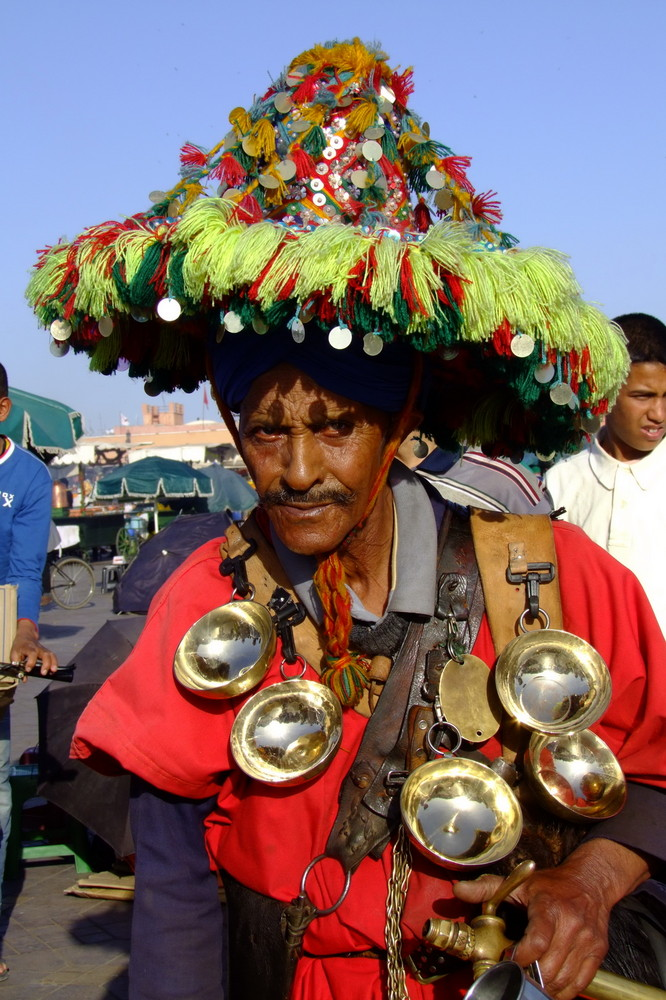 Wasserverkäufer in Marrakesch