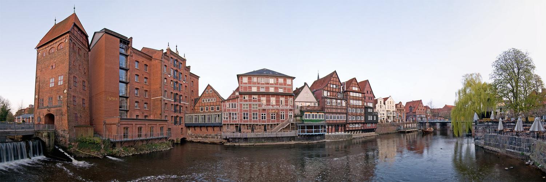 Wasserviertel Lüneburg Pano