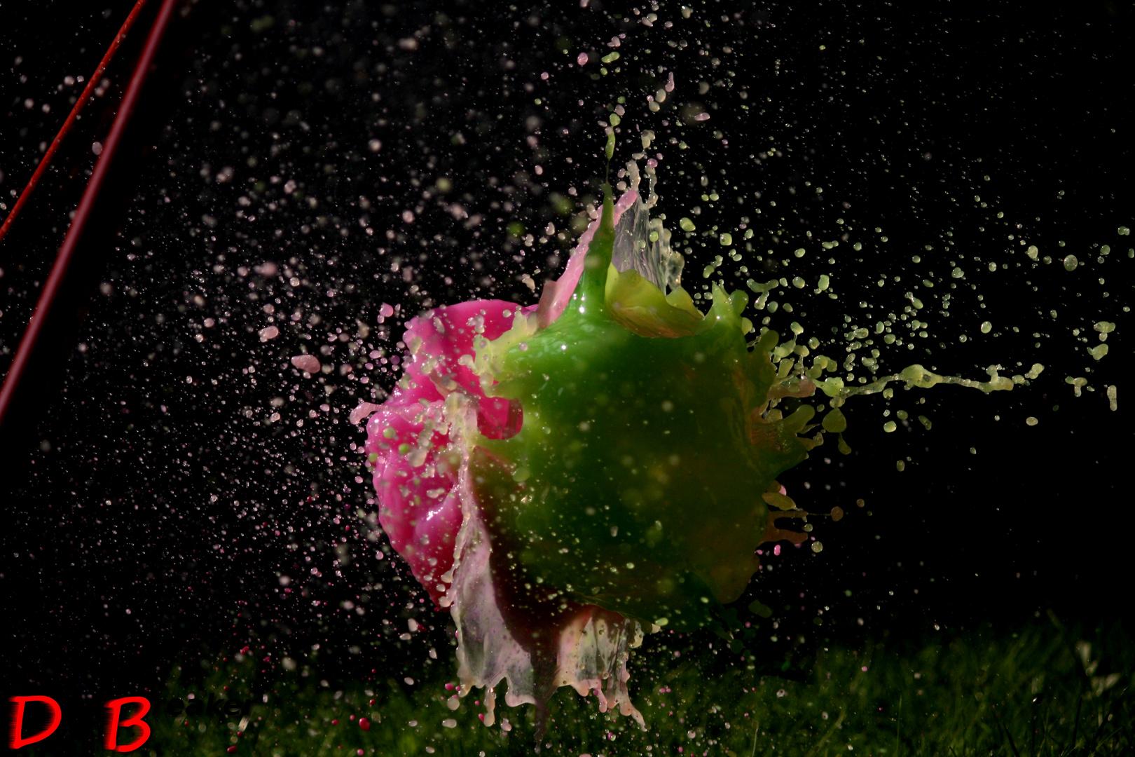 Water balloons splashing