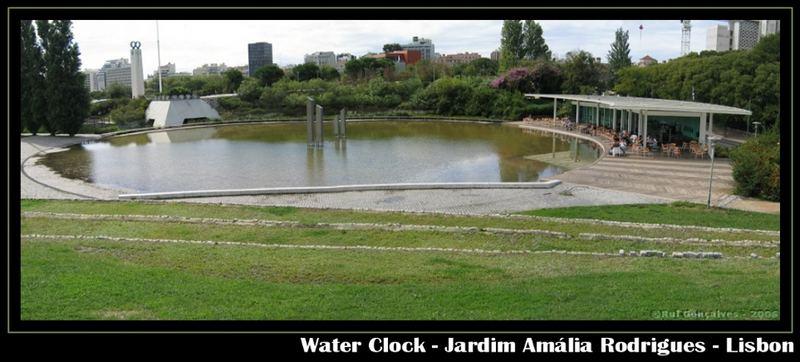 Water Clock in Amalia Rodrigues Garden - Lisbon
