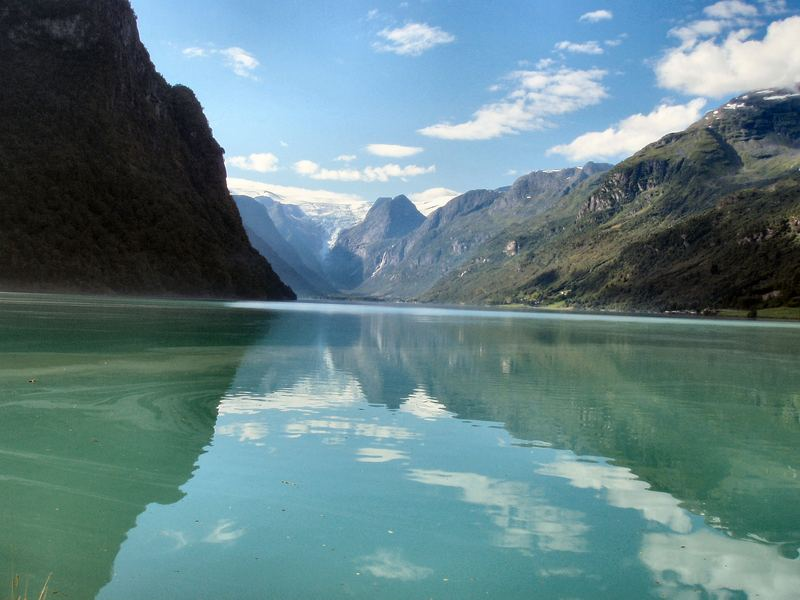 WATER FROM BRYKSDAL GLACIAR - NORWAY