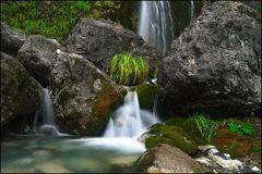 Waterfall. Albanian Alps.