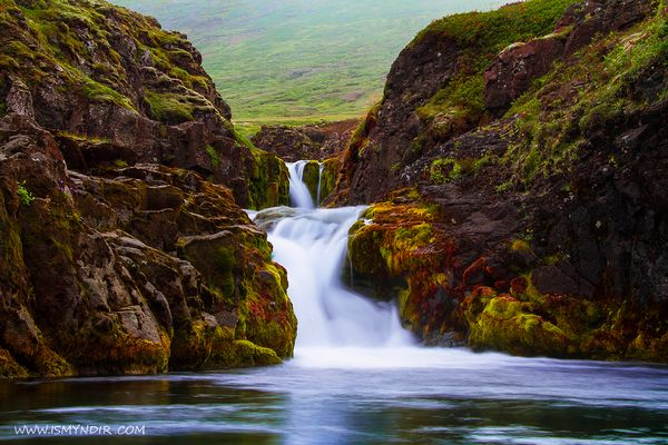 Waterfall in Iceland, the rivers name is Fagridalsá in East-Iceland