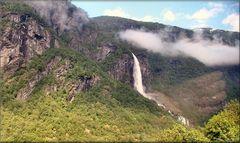 * Waterfall near Fläm *