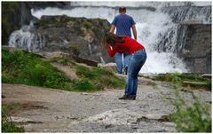 Waterfall  near Voss.