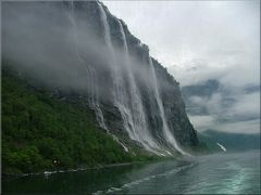Waterfall «The seven sisters ».