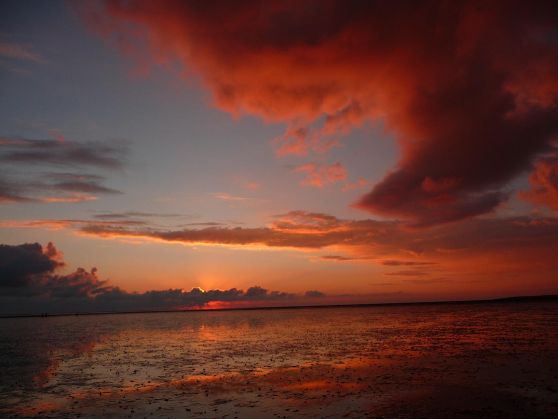 Watt fürn Meer,Sonnenuntergang