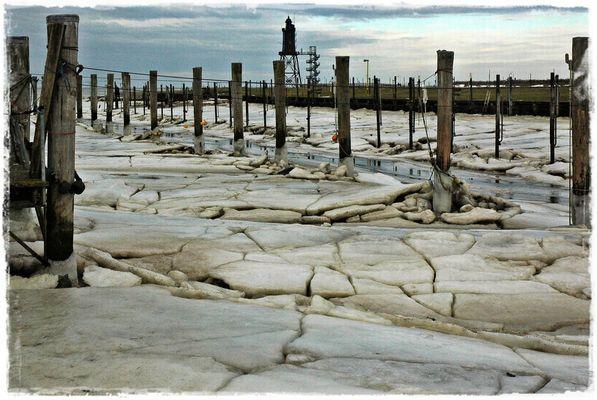 Wattenmeerküste im Winter